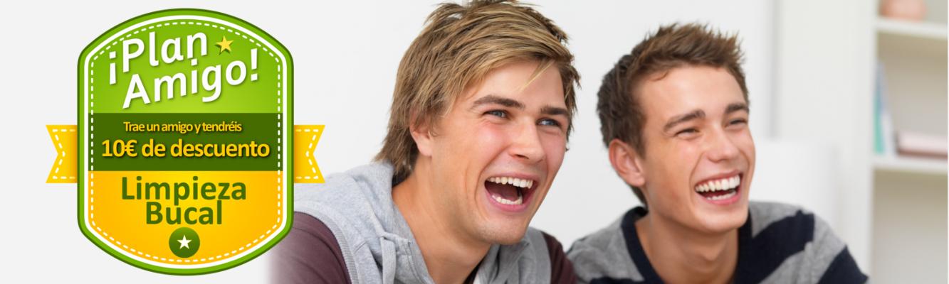 Trae un amigo y los dos tendréis 10€ de descuento en limpieza bucal